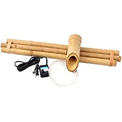 Bamboo Accents Zen Garden Water Fountain Spout, Complete Kit includes Submersible Pump for Easy Install, Handmade Indoor/Outdoor Natural Split-Free Bamboo (Three Arm Design - 18 Inches)