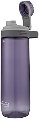 Rubbermaid Garrafa de água Chug à prova de vazamento, 700 ml, lilás empoeirado