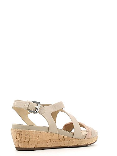 sandalo Donna Geox d62p6c 085ky zeppa taupe