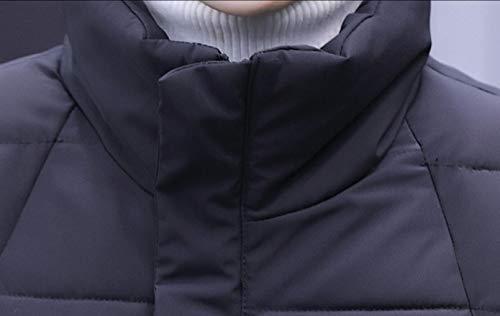 Di Maschile Giù Cappotto Cotone Parka Di Spessore Caldo Nero Outwear Giacca Ttyllmao qxI4zwW