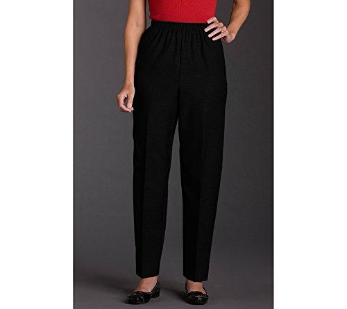 Alfred Dunner Pull-on Pants Black 10 (Capri Pull On Shorts)