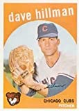 1959 Topps Regular (Baseball) Card# 319 Dave Hillman of the Chicago Cubs Ex Condition