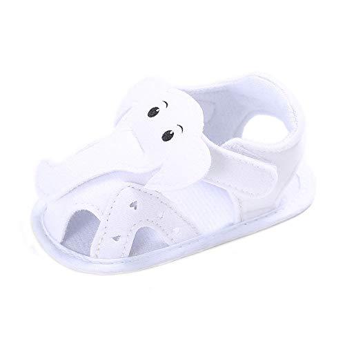 Nevera Newborn Kids Baby Sandal Cartoon Elephant Summer Toddler Slipper Shoes White