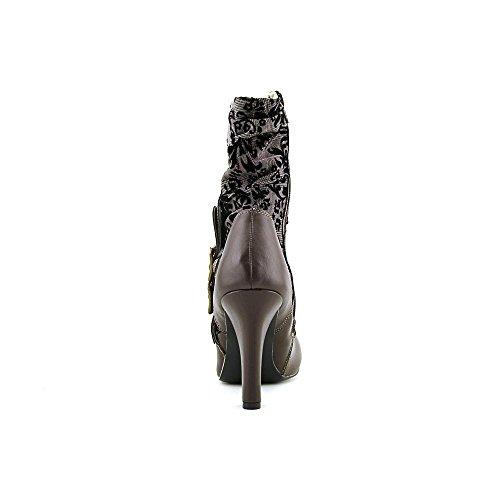 Canvas Boot Mid Demonia Calf Tesla Women brown pu 106 qxpwxSZnt