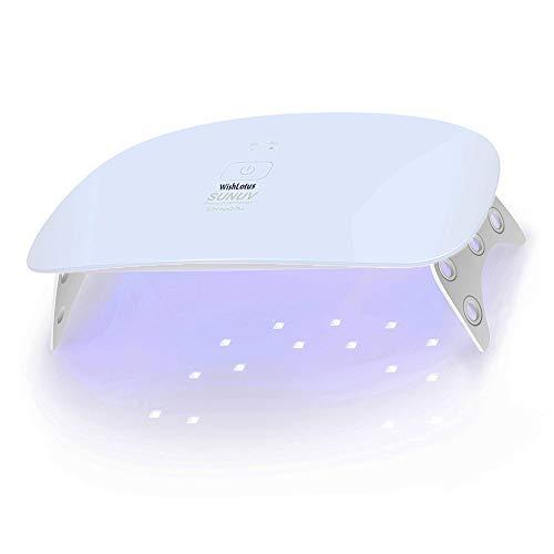 SUNmini Plus LED Nail Lamp, Folding Mini WishLotus Double Light Source SUNUV 24W Portable UV Nail Dryer with 2 Timer Setting for Gel Nail Polish