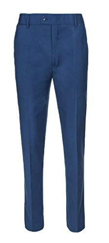 RGM Boys Dress Pants Flat-Front Skinny fit Slacks - Poly Rayon Giovanni Uomo New Blue 12