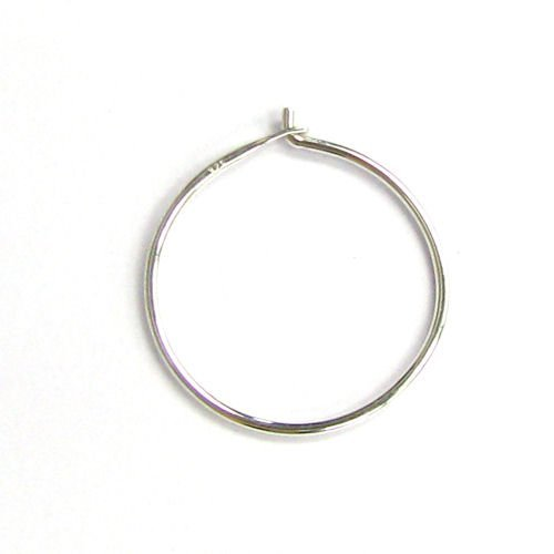 Beading Earwire - 4pcs/2 pairs .925 Sterling Silver Earwires Beading Hoop Earring Connector/Findings/Bright