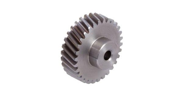 Spur gear made of steel C45 with hub module 6 36 teeth tooth width 60mm outside diameter 228mm