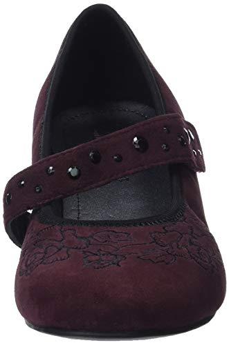 Mujer Embroidered Cerrada Para Con Tacón Charmaine Red 157 Hotter De Zapatos maroon Punta wq8gCBC