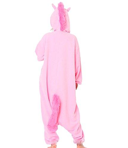 CTHEE Adulto Unisex Indossare Kigurumi Animal Cartoon Pigiameria Combinaison Pigiama Vestito Costume Unicorno Rosa XL