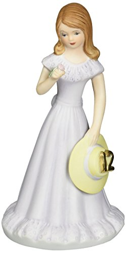 "Enesco Growing Up Girls ""Brunette Age 12"" Porcelain Figurine, 5.75"""