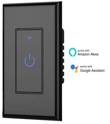Smart wi fi light switch alexa google home compatible - Control lights with smartphone ...