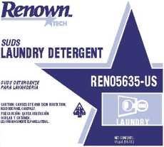 Renown REN05635-US Laundry Detergent Rt Suds, 15 gal
