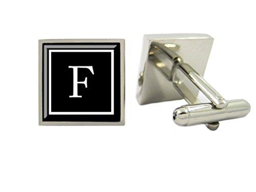 LBFEEL Monogram Cufflinks,Personalized Mens Cufflinks,Custom Initial Cufflinks / with Cufflink Box