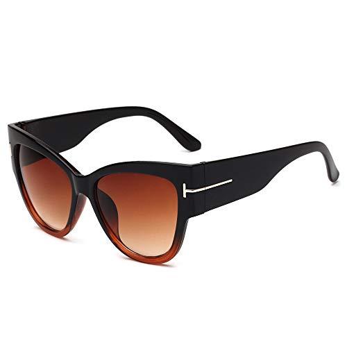 Price comparison product image CapsA Retro Fashion Sunglasses for Women Men Integrated UV Glasses (B)