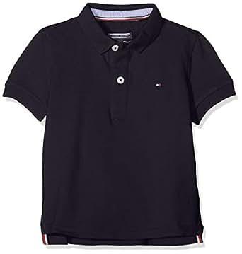TOMMY HILFIGER Kids Short Sleeve Polo, Sky Captain, 10