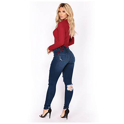 Femme Pantalon Combinaison Conqueror Trou Grande Slim Femmes Jeans qBTnwPzHHf