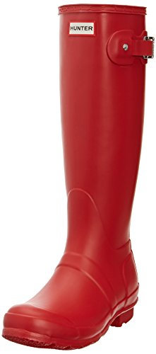 Hunter Original Tall Röda Womens Stövlar Storlek 4 Uk