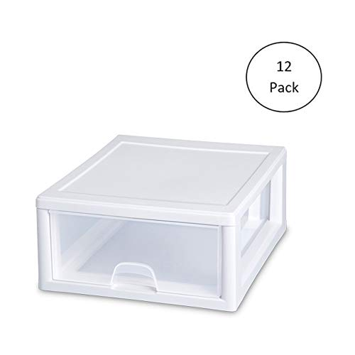 Sterilite 2301 16-Quart Stacking Storage Drawer (12 Pack)