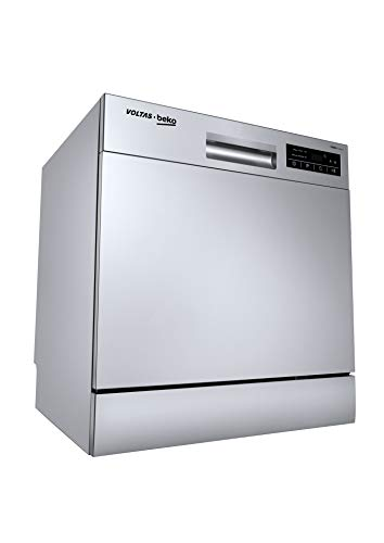 Voltas Beko 8 Place Settings Dishwasher (DT8S, Silver)
