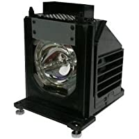 TV Lamp 915P061010 with Housing for Mitsubishi TV and 1-Year Replacement Warranty