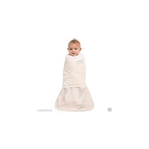 Halo Safe Dreams Polyester Knit Swaddle, Newborn Cream 81877