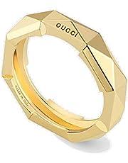 Gucci Link to Love ring met klinknagels geel goud YBC662184001014