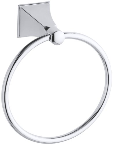 KOHLER K-487-CP Memoirs Towel Ring with Stately Design, Polished Chrome by Kohler