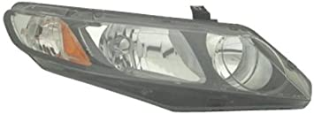Partslink Number HO2503121 Sherman Replacement Part Compatible with Honda Civic Passenger Side Headlight Assembly Composite
