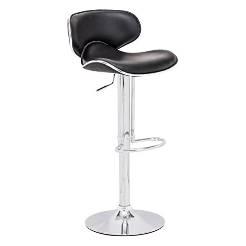 Zuo Modern Fly Barstool, Black (Cart Canada Bar)