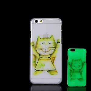 YULIN Cat Pattern Glow in the Dark Hard Case for iPhone 6