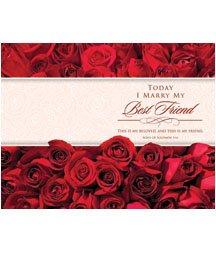 Standard Bulletin 11 - Wedding - Today I Marry My Best Friend. (Pack of 100)]()