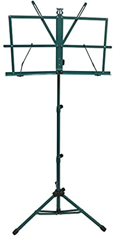 Green Folding Portable Music Stand w/ Bag (Music Stand Top)