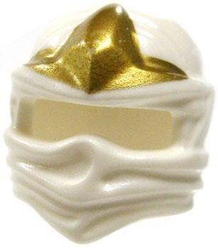 LEGO LOOSE Headgear White Ninja Wrap with Gold Three Point Star