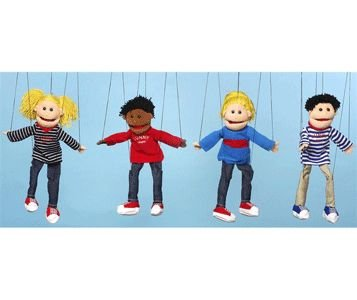 [Sunny Jeans Boy Marionette - Black WB1631] (Costume Puppet Strings)