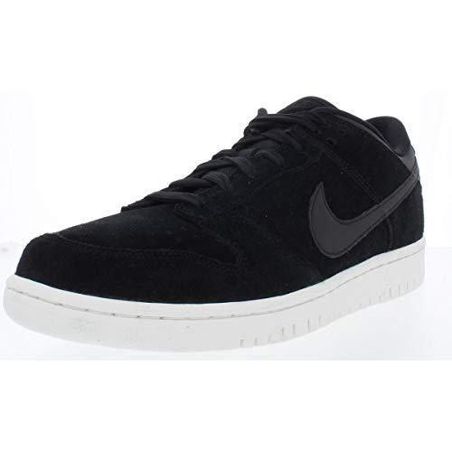 - Nike Mens Dunk Low Premium Faux Suede Skateboarding Shoes Black 13 Medium (D)