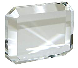 Rectangular Crystal Paperweight for Engraving with Gift Box