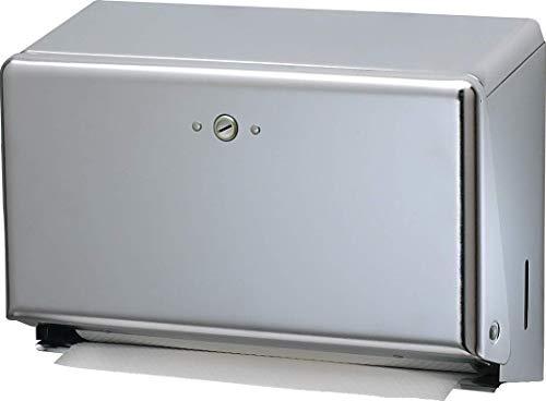 San Jamar T1950XC Mini C-Fold/MultifoldCommercial Towel Dispenser, 250 Multifold / 150 C-Fold Towel Capacity, Chrome (Renewed)