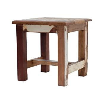 Reclaimed Wooden Step Stool - Wooden Stool - 100% Reclaimed Wood - Wooden Sitting Stool  sc 1 st  Amazon.com & Amazon.com: Reclaimed Wooden Step Stool - Wooden Stool - 100 ... islam-shia.org