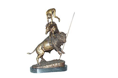 (Buffalo Horse by Remington Bronze Statue - Size: 14