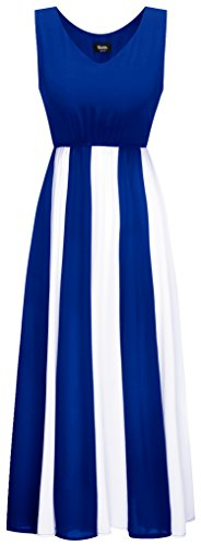 blue and white strapless dress - 5