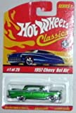 '57 CHEVY BEL AIR Hot Wheels Classics Series #1 - 1957 Chevy Bel Air w/ Spectraflame Paint 1:64 Scale Collectible Die Cast Metal Toy Car Model #1 of 25