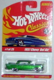 '57 CHEVY BEL AIR Hot Wheels Classics Series #1 - 1957 Chevy Bel Air w/ Spectraflame Paint 1:64 Scale Collectible Die Cast Metal Toy Car Model #1 of 25 (Air Bel Car 57 Classic)