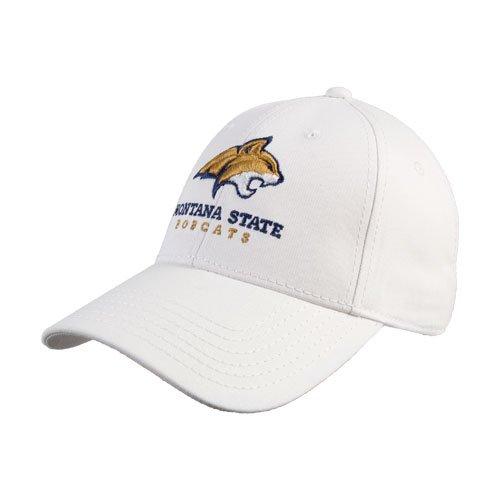 インストラクター西割り当てるMontana StateホワイトHeavyweight Twill Proスタイル帽子' BobcatヘッドW / Montana State Bobcats Stacked '
