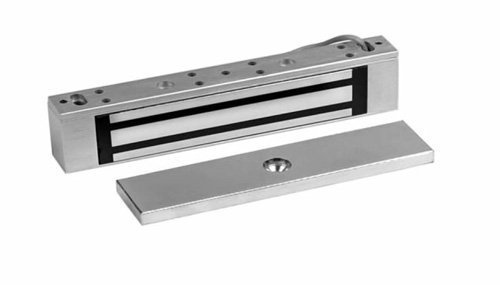 (Rutherford Controls 8375 28 Single MicroMag Brushed Anodized Aluminum Electromagnetic Lock, 12/24 VDC (Pack of 1) by Rutherford Controls)
