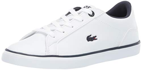Lacoste Unisex LEROND Sneaker white navy 11. Medium US Little Kid (Lacoste For Kids Boys Shoes)