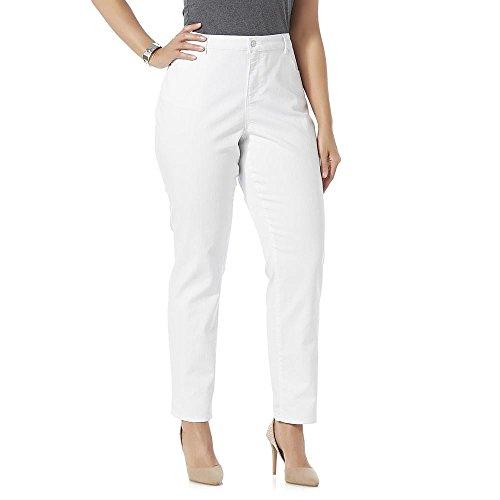 Jaclyn Smith Women's Plus Angel Fit Straight Leg - Jaclyn Smith Jeans