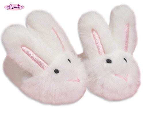 Sophia's Bunny Doll Slippers, White, -