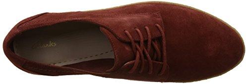 Sneakers red Basses Clarks Lillia Lola Femme Rust qTnEC