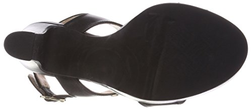 Love Moschino Damen San.lod.lb12 / 105 Slingback Sandalen Zwart Zwart Leder (zwart)